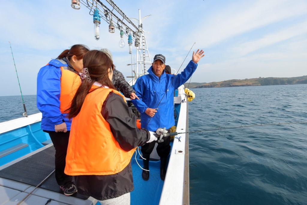 船釣り体験 釣り方のレクチャー 壱岐島砂浜会