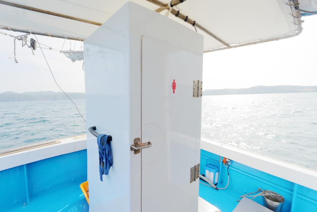 船釣り体験 手洗いトイレ 壱岐島砂浜会